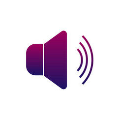 sound icon for the application or the web vector image