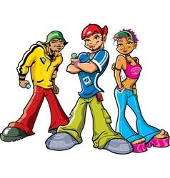 Urban Teenagers vector image vector image