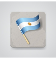 Argentina flag icon vector image vector image