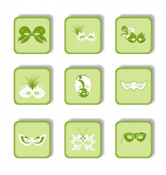 carnival mask icons vector image