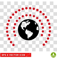 Earth Sphere Shield Eps Icon vector image