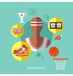 basketball infographic vector image vector image