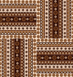 Ethnic ornaments seamless pattern in african style vector image vector image