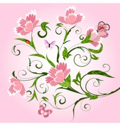 floral pattern with cloves vector image vector image