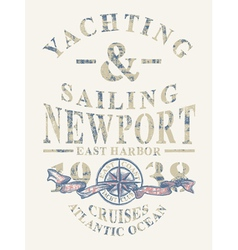 Newport yachting and sailing vector image vector image