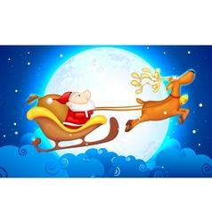 Santa in Sledge vector image vector image
