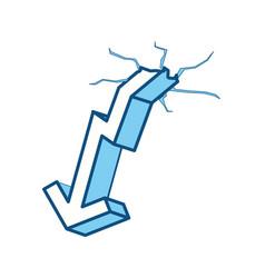 Decrease arrow down vector