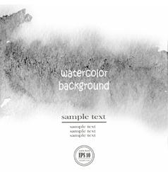 gray watercolor background wet vector image vector image