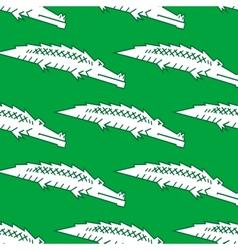 Green crocodile seamless pattern vector image