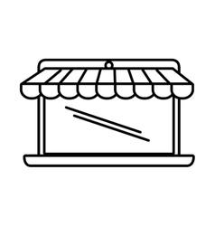 online shopping laptop sale e-commerce outline vector image