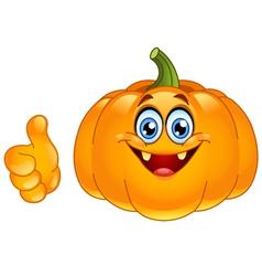 thumb up pumpkin vector image vector image