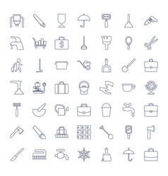49 handle icons vector