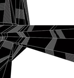 abstract geometric background techno style black vector image
