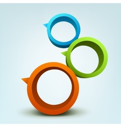 Abstract of 3d rings vector image