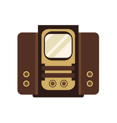 ancient television receiver on vector image