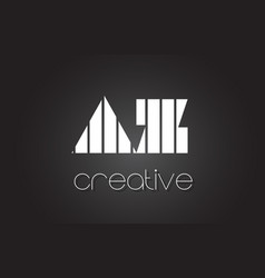 Az a z letter logo design with white and black vector