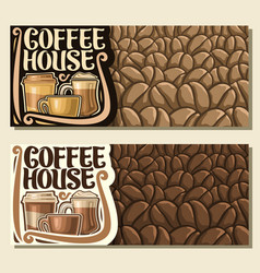 banners for coffee house vector image