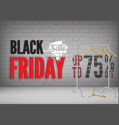 black friday 75 percent off banner template vector image