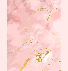 Blush pink watercolor fluid painting design vector
