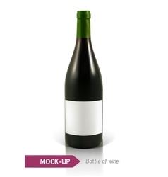 bottles of white wine vector image