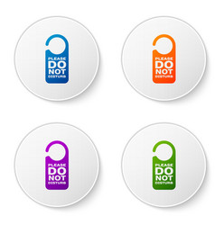 Color please do not disturb icon isolated on white vector