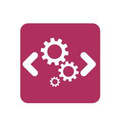 computer code programming vector image