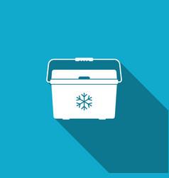 Cooler bag icon portable freezer bag vector