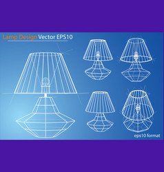 Design and manufacture home lamps vector