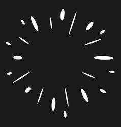 doodle design element firework hand drawn vector image