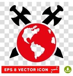 Earth Swords Eps Icon vector image