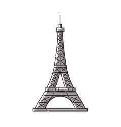 eiffel tower flat icon - famous paris france vector image