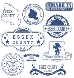 Essex county New Jersey stamps and seals vector