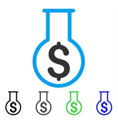 Financial alchemy flat icon vector