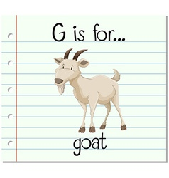 Flashcard letter G is for goat vector image