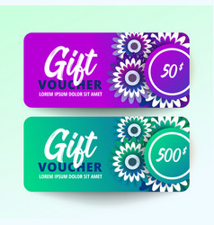 Floral gift voucher vector