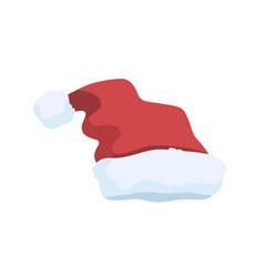 funny santa hat flat festive vector image