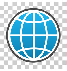 Globe gradient icon vector