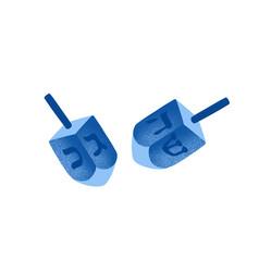 Hanukkah dreidels hand drawn vector