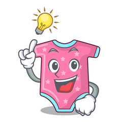 have an idea baby wool clothes isolated on mascot vector image
