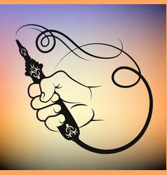 Hookah in hand symbol vector