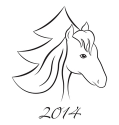 Horse NY 2 vector