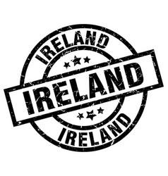 Ireland black round grunge stamp vector