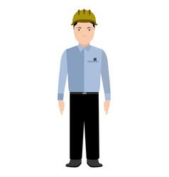 isolated civil engineer avatar vector image