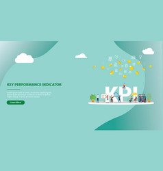 kpi key performance indicator concept website vector image