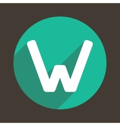 Letter W Logo Flat Icon Style vector