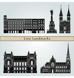 Linz landmarks and monuments vector image