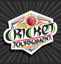 Logo for cricket tournament vector