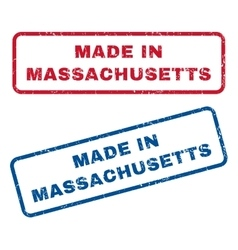 Made in massachusetts rubber stamps vector