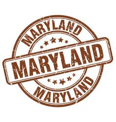 Maryland brown grunge round vintage rubber stamp vector