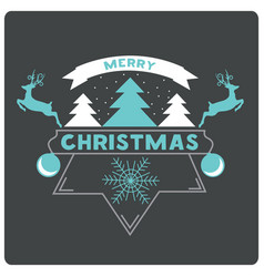 merry christmas website banner with snow christmas vector image